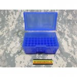 Patronenbox Frankford Arsenal Flip-Top #505 17 Remington, 204 Ruger, 223 Remington 50-Round Plastic Blue