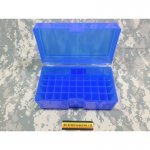 Patronenbox Frankford Arsenal Flip-Top #514 460 S&W Magnum, 500 S&W Magnum, 45-70 Government 50-Round Plastic Blue