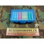 Patronenbox MTM 9mm Para Clear Blue (P50-9)