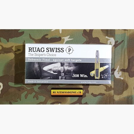 RUAG Swiss P .308 Win Final Subsonic 200grs; 20 Stk