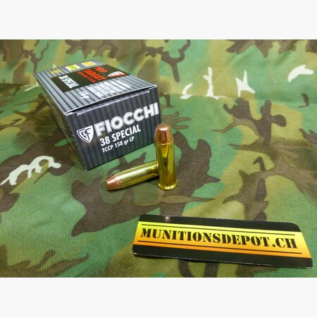 Fiocchi .38 Special Top Target 158grs TCCP; 50 Stk