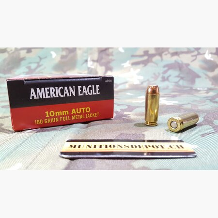 Federal American Eagle 10mm Auto 180grs FMJ; 50 Stk
