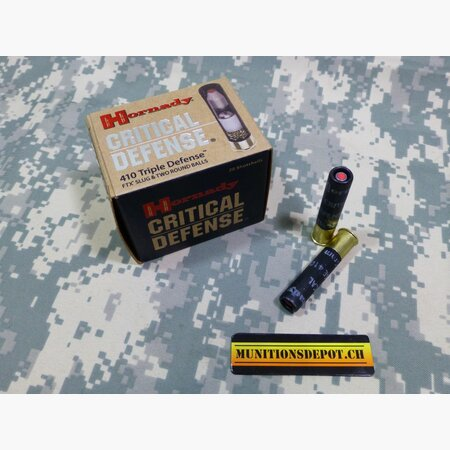 Hornady .410 2 1/2 TRIPLE DEFENSE; 20 Stk