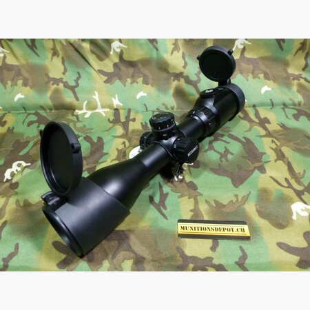 Zielfernrohr UTG 2-7X44 30mm Long Eye Relief Scout Rifle Scope w/Glass IE Mil-dot, MS QD Rings, SCP3-274LAOIEW
