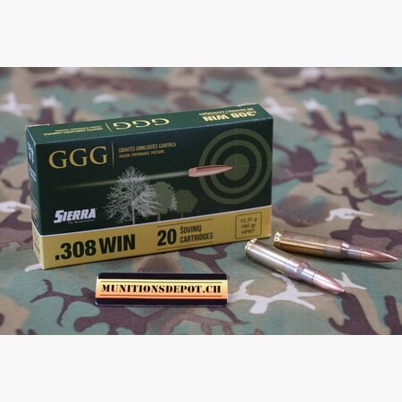 GGG .308 Win Sierra Match King HPBT 190grs; 20 Stk