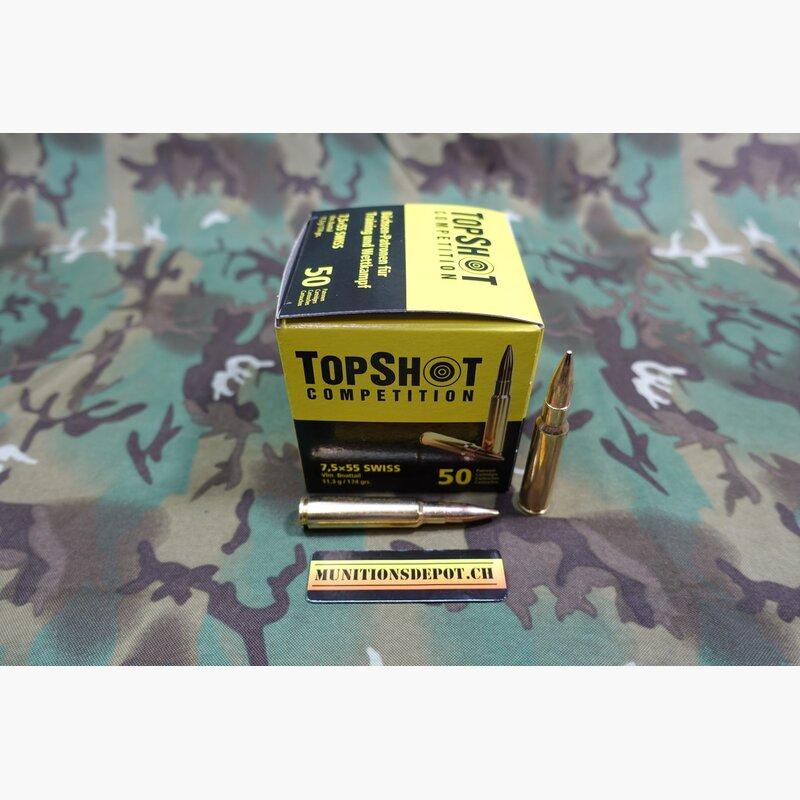 Topshot 7 5x55 Swiss Gp11 Fmj Bt 174grs 50 Stk Munitionsdepot Zw Chf 46 00